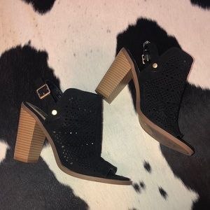 Dolce Vita perforated open toe heeled booties